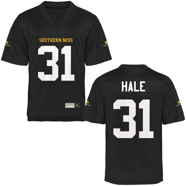 Men's Andre Hale II Southern Miss Golden Eagles Replica Gold Football Jersey Black