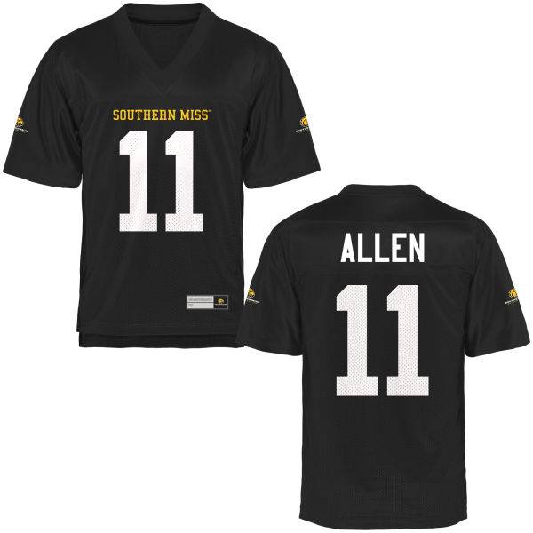 Men's Julian Allen Southern Miss Golden Eagles Authentic Gold Football Jersey Black