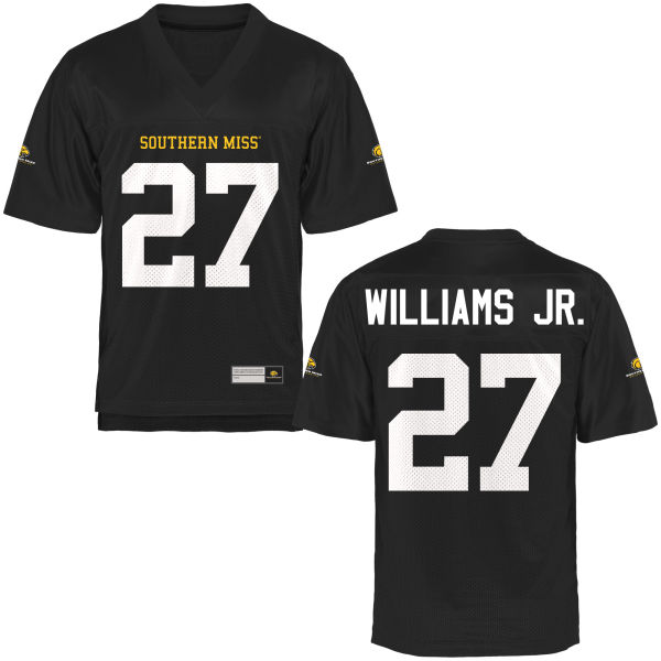 Women's Kevin Williams Jr. Southern Miss Golden Eagles Game Gold Football Jersey Black