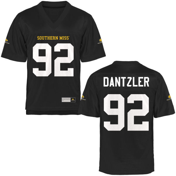 Men's Lorenzo Dantzler Southern Miss Golden Eagles Authentic Gold Football Jersey Black