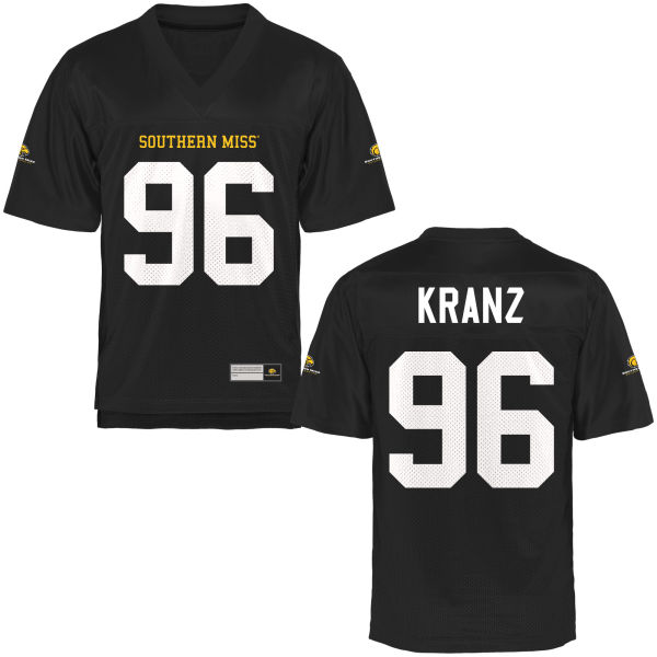 Men's Marshall Kranz Southern Miss Golden Eagles Game Gold Football Jersey Black