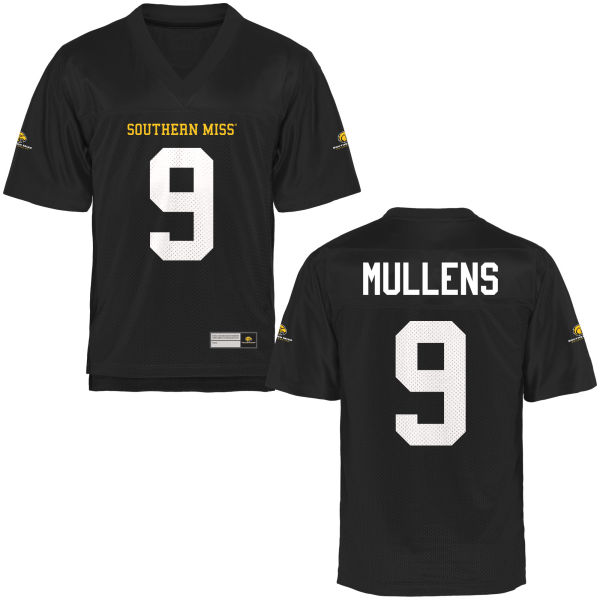 Men's Nick Mullens Southern Miss Golden Eagles Game Gold Football Jersey Black