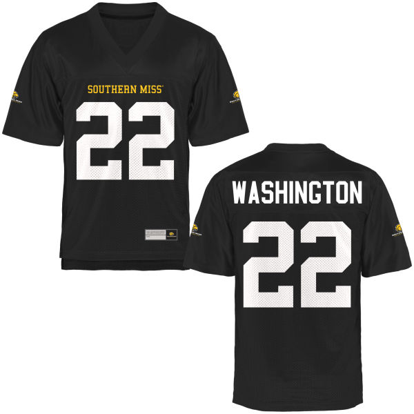 Men's Jay'Shawn Washington Southern Miss Golden Eagles Authentic Gold Football Jersey Black